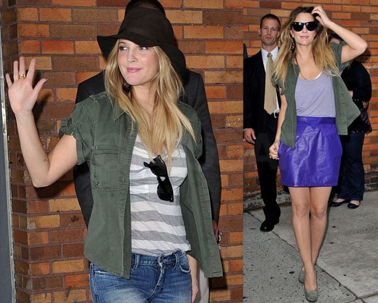 Drew Barrymore Arriving at The Daily Show