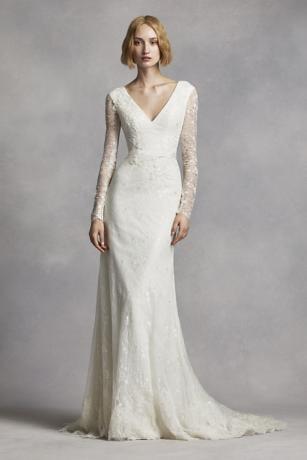 White By Vera Wang Long Sleeve Lace Wedding Dress