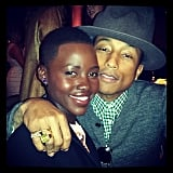 She snapped this adorable selfie with Pharrell Williams at the event. Source: Instagram user lupitanyongo