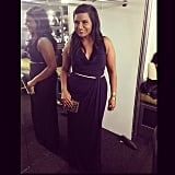 Mindy Kaling shared a picture of her look before heading to the SAG Awards. Source: Instagram user mindykaling