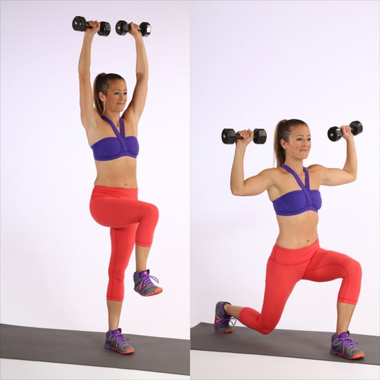 Circuit One: Back Lunge With Overhead Press