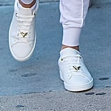 Her Sneakers Featured Gold Clip-Ons