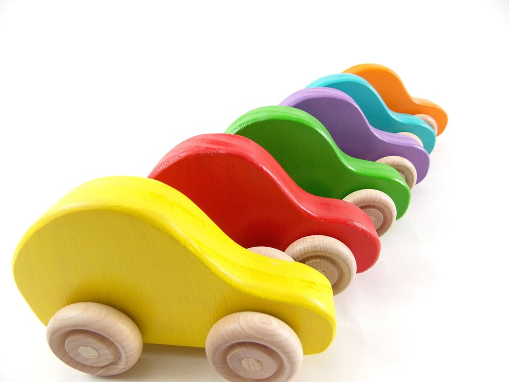 Colorful Wood Car Set
