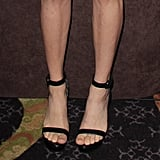 She once again wore her black Givenchy ankle-strap sandals for a minimalistic finish.