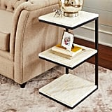 Mother-of-Pearl Three-Tier Accent Table