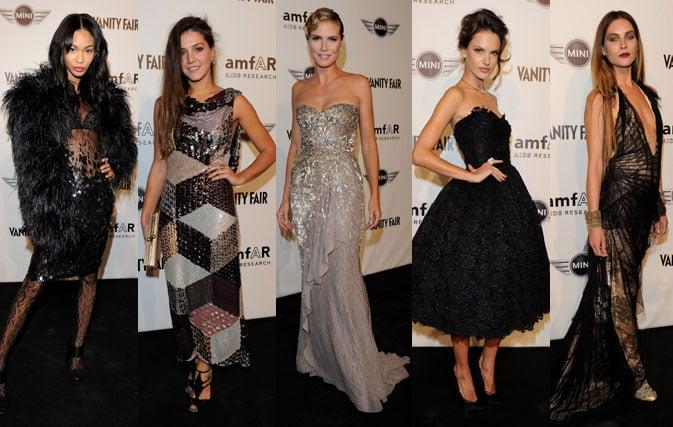 Pictures of Alessandra Ambrosio, Chanel Iman, Heidi Klum, and More at amfAR Milano