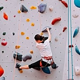 Check out an indoor rock climbing gym.