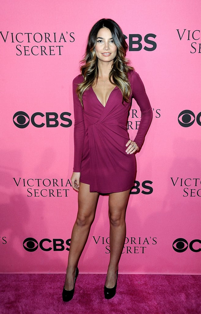 Lily Aldridge wore her hair in loose waves for a Victoria's Secret event.