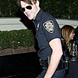 Chord Overstreet was a convincing police officer in LA in 2014.