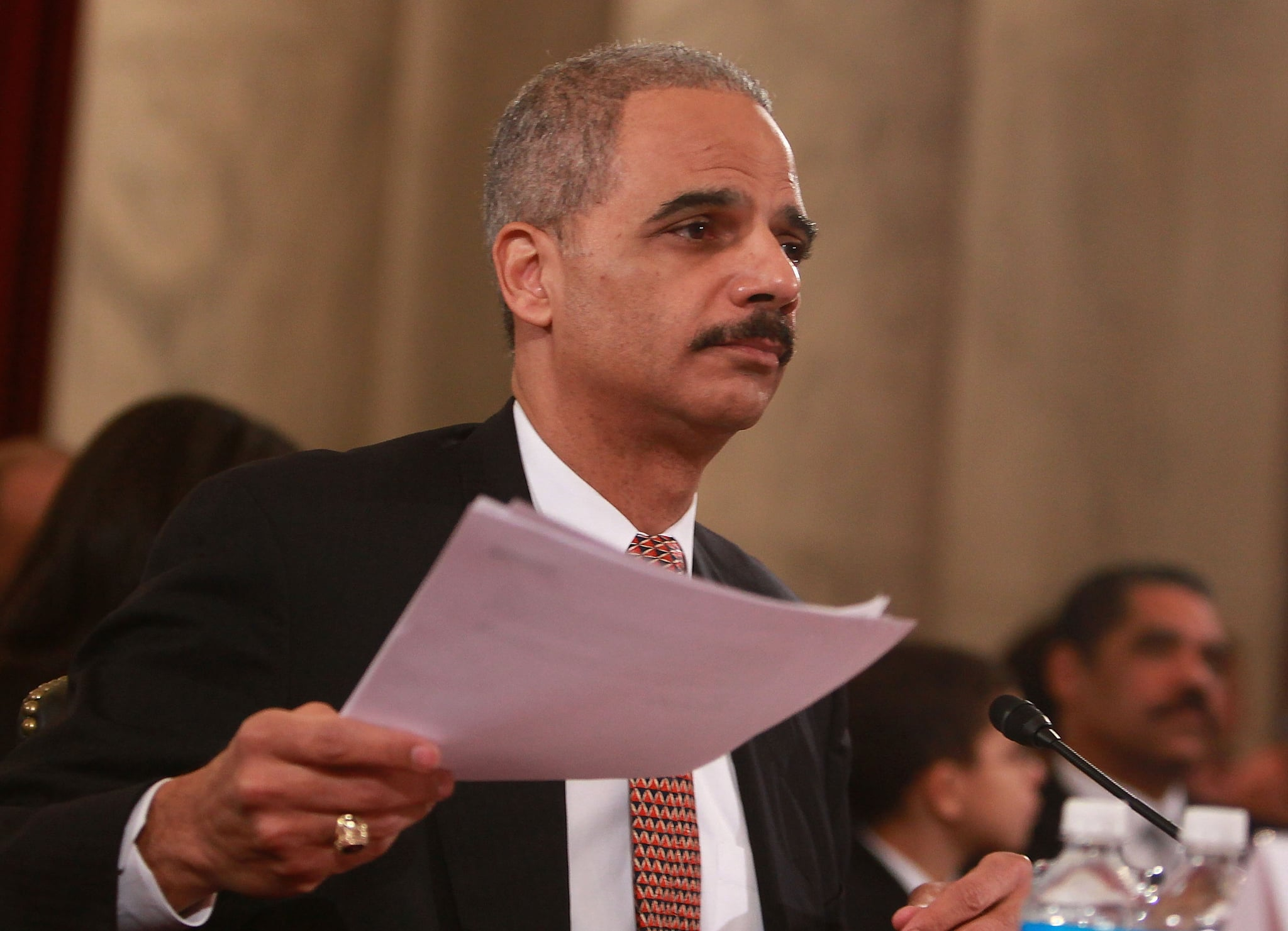Attorney General nominee Eric Holder testifies.