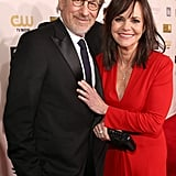 Steven Spielberg posed with Lincoln actress Sally Field on the red carpet.