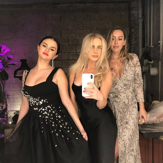 Selena Gomez Wears Black Dress to Wedding February 2019