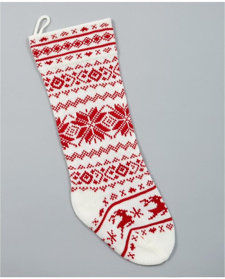Gisela Graham Scandi Knitted Christmas Stocking | Pretty Christmas ...