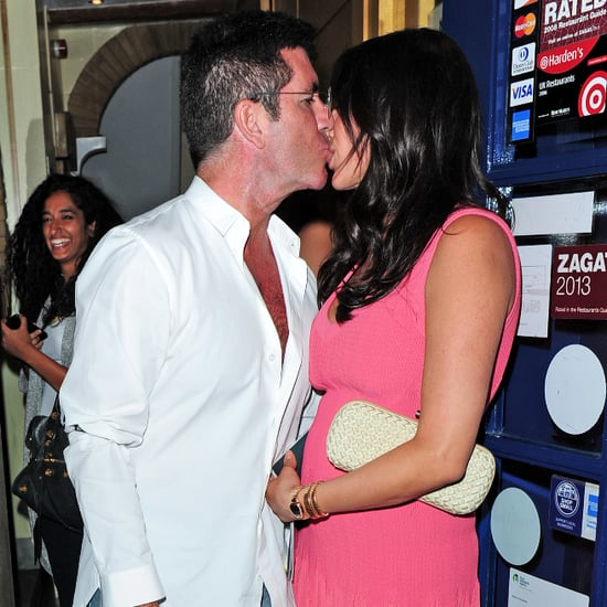 Simon Cowell Kissing Lauren Silverman in London