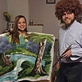 Bob Ross and His Canvas