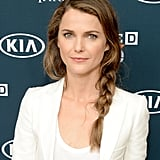 Keri Russell showed off a side braid with loose, face-framing pieces for a casual vibe.