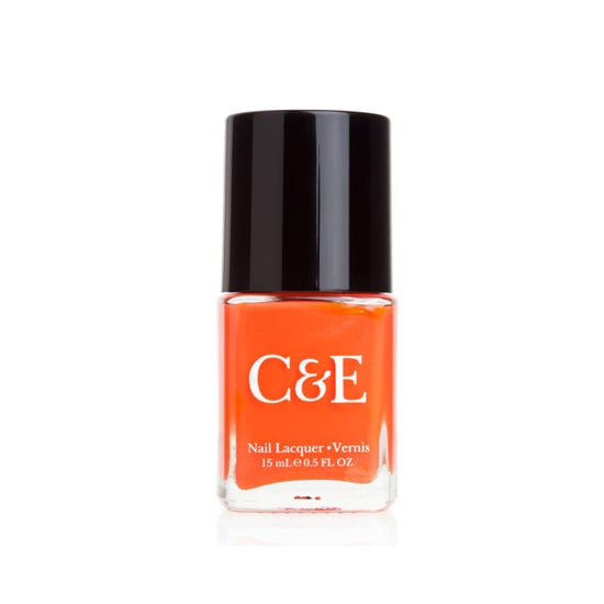 A juicy orange hue, like the vibrant C&E Nail Lacquer in Clementine ($6), is always a warm-weather favorite.
