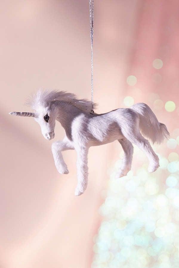 Plush Unicorn Ornament