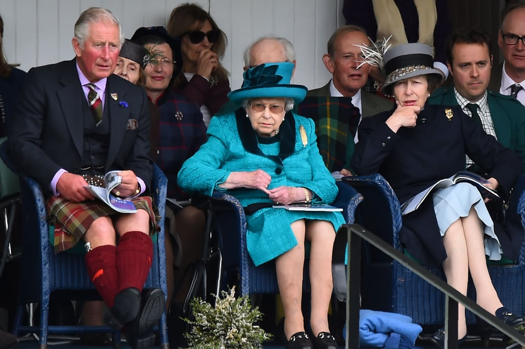 Prince Charles, Queen Elizabeth II, and Princess Anne in Scotland in 2018