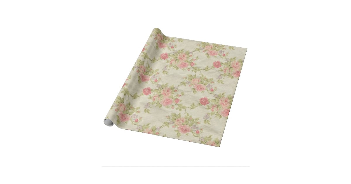 Hang Joyce S Floral Quot Wallpaper Quot With Wrapping Paper