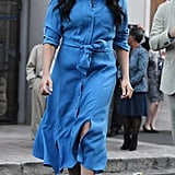 Pictures of Meghan Markle Wearing Shirt Dresses