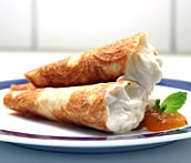 Festive Foods: Krumkaker Filled with Cloudberry Cream