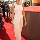 Rihanna headed inside for the show.