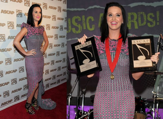 Photos of Katy Perry and Engagement Ring at ASCAP Pop Music Awards as She Accidentally Asked Lindsay Lohan to be Maid of Honour 2010-04-22 21:30:00