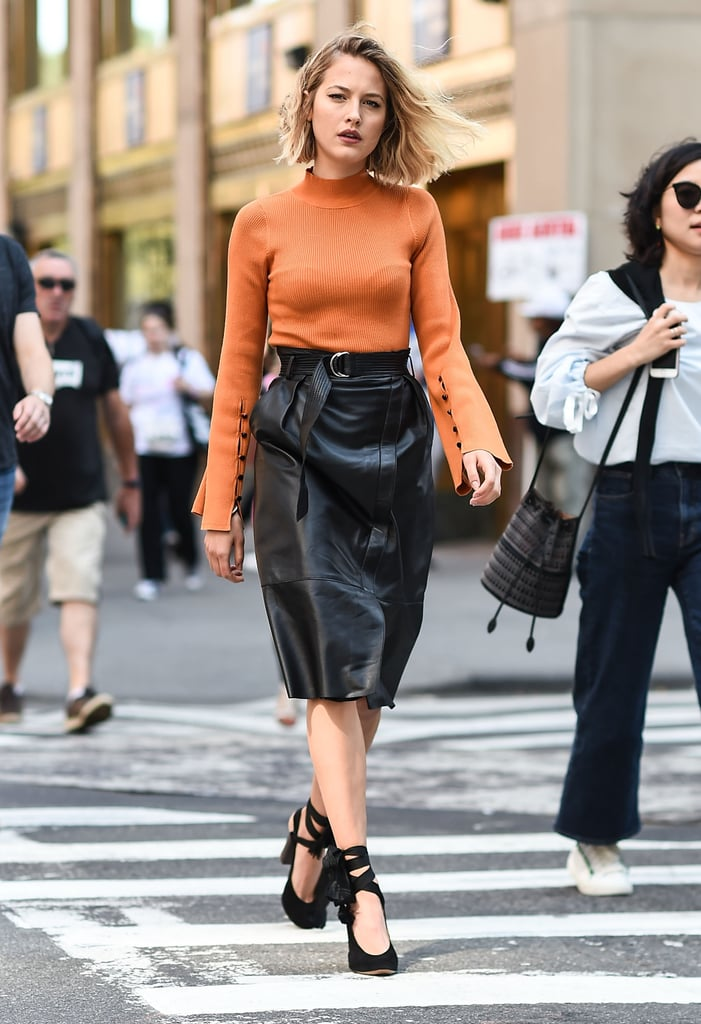 Slim Knit With a Pencil Skirt