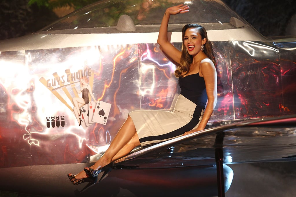 In 2013, Jessica Alba had fun on stage.