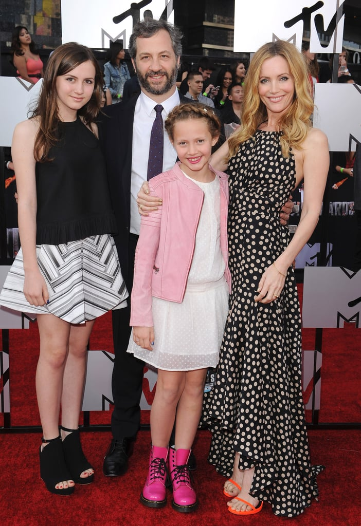 Judd Apatow and Leslie Mann With Daughters September 2016 ...