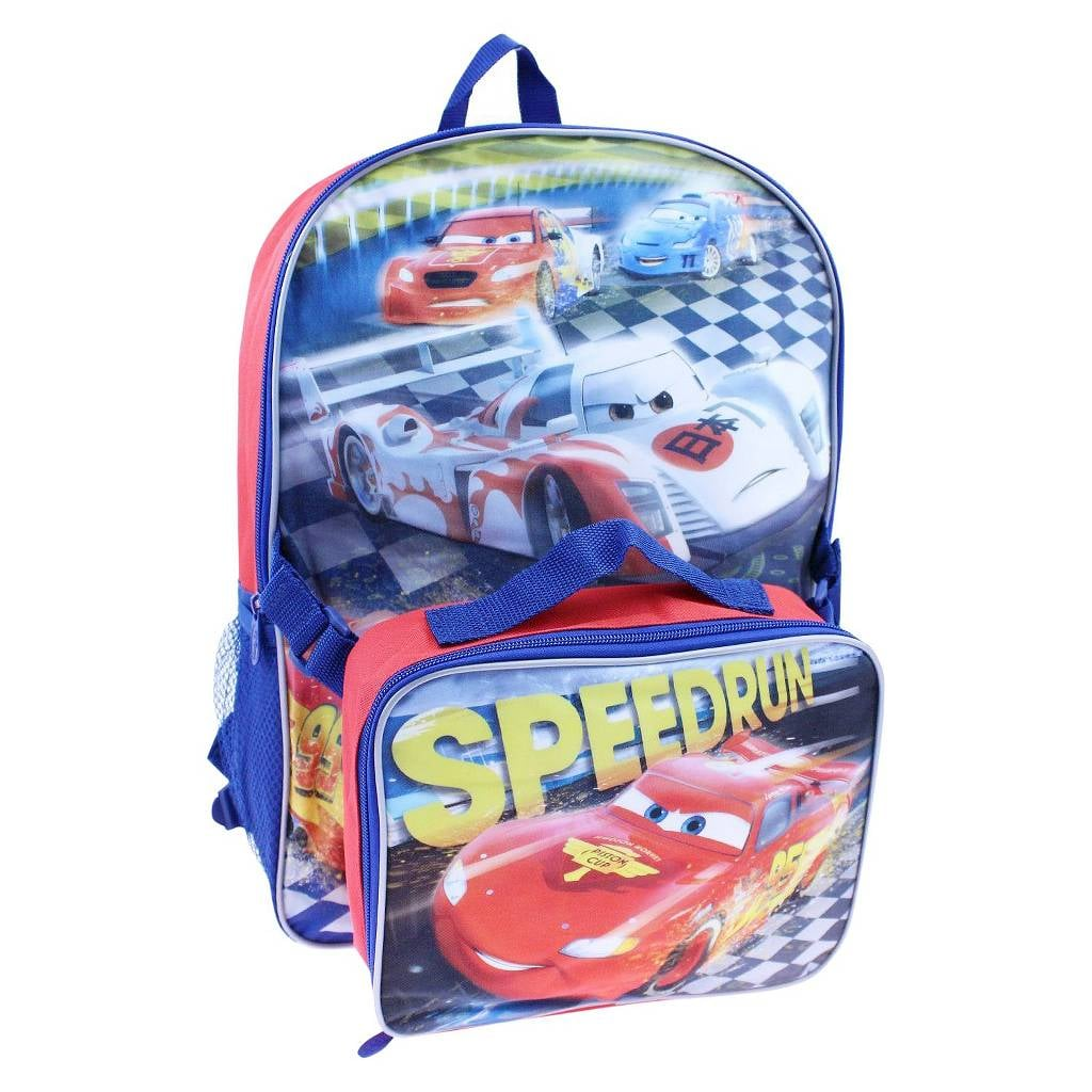 Cars Disney Backpack With Lunch Kit