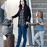 Coco and Courteney chatted outside LAX.