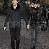 Kate Moss and husband Jamie Hince held hands in London.