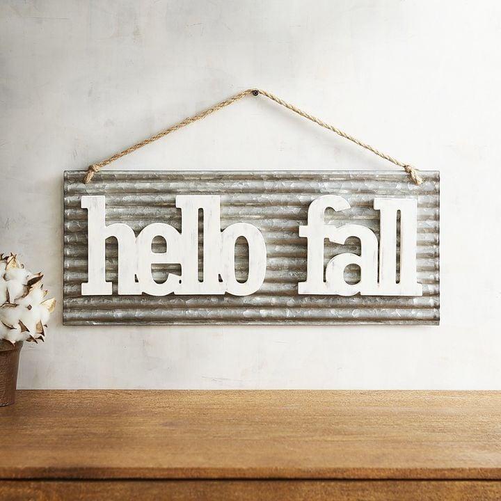 Home Decor Imports: Pier 1 Imports Hello Fall Wall Decor