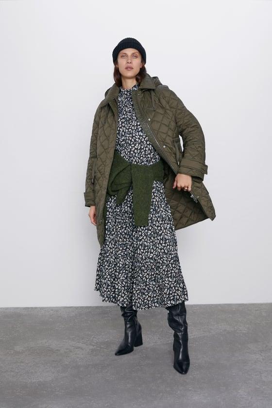 Zara Padded Jacket With Pockets
