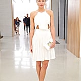 Jessica Hart at Stefano Tonchi and Vionnet's Art Basel party.