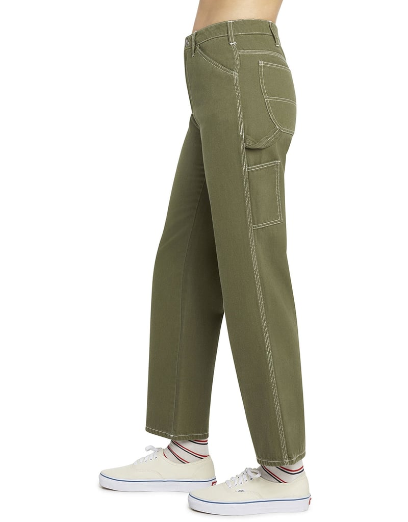 Dickies Girl Juniors' Relaxed Fit Carpenter Pants, Olive Green ($50)