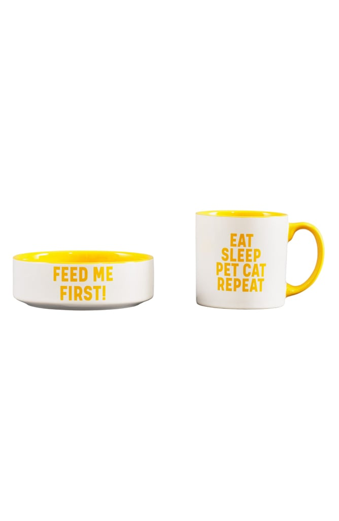 Wild & Woofy Mug & Cat Bowl Set