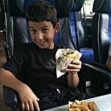 Shepherd Seinfeld enjoyed a Shake Shack burger on his way out to the Hamptons. Source: Instagram user jessseinfeld