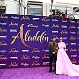 Mena Massoud and Naomi Scott at the Aladdin Premiere 2019