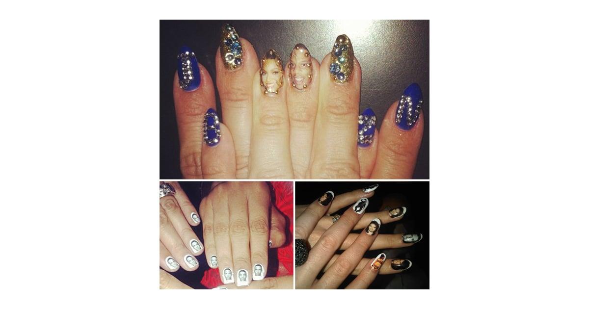 Celebrity Romantic Nail Art Popsugar Beauty Uk