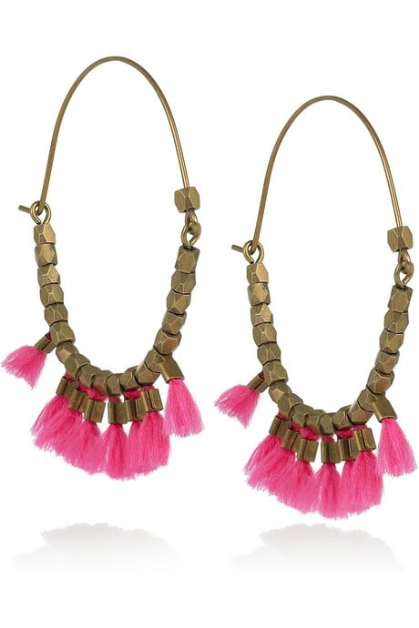 """These fun earrings are the quickest way to add a bohemian touch to any look. With Coachella on my mind, I'd like to style these with a lace tank, tie-dye shorts, and black sandals for a Parisian-cool ensemble."" — Chi Chau, associate editor  Isabel Marant earrings ($175)"