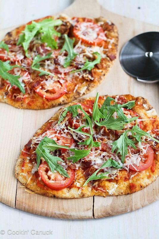 BLT Naan Pizza