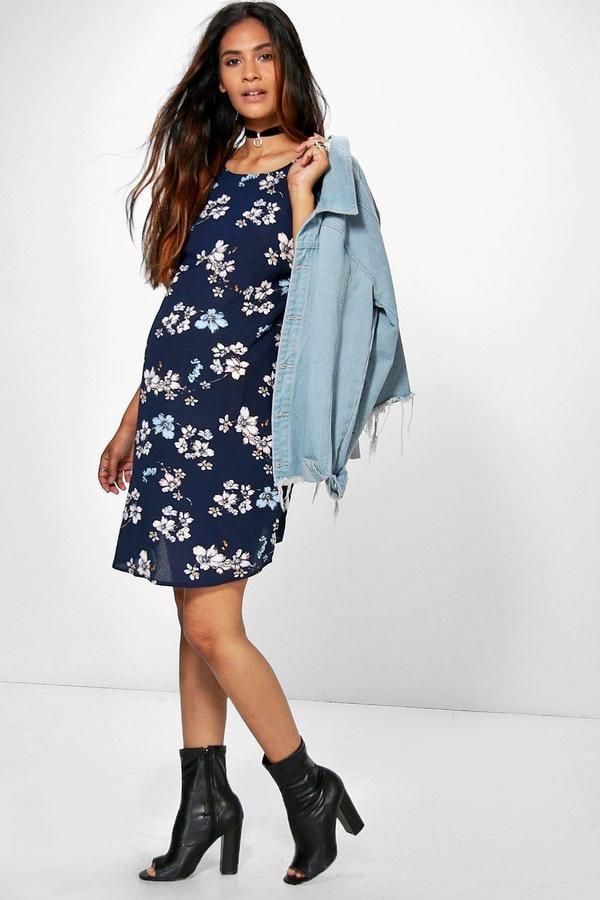 b8f8413745f Boohoo Maternity Sophie Floral Print Cap Sleeve Shift Dress