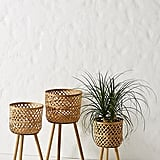 Bamboo Plant Stands, Set of 3