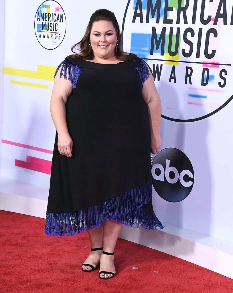 Chrissy Wearing Stuart Weitzman Heels During the 2017 American Music Awards