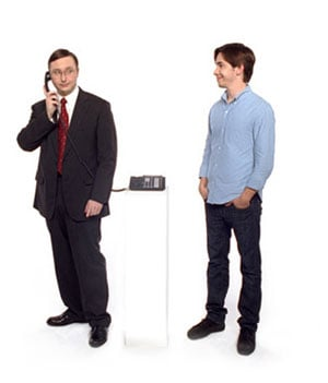 "John ""PC"" Hodgman Whips Out His iPhone"