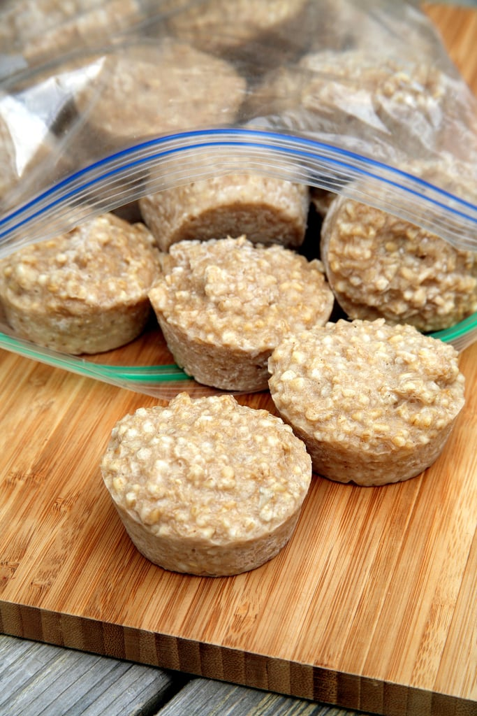 Freeze Oatmeal in Muffin Tins
