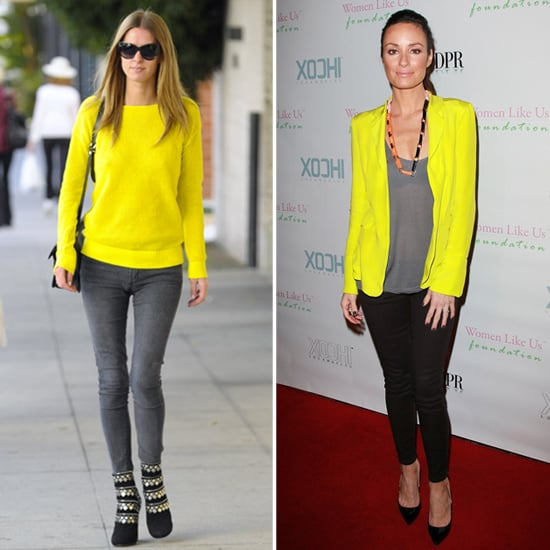 Nicky Hilton Neon Yellow Sweater